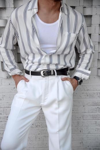 Cinturon western negro hombre