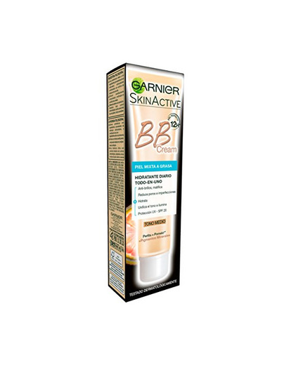 Garnier Skin Active BB Cream Matificante Crema Correctora y Anti Imperfecciones para