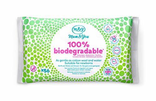 Mum & You Toallitas Húmedas Para Bebés 100% Biodegradables, Paquete De 12,