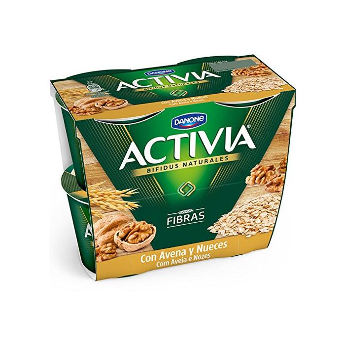 Danone Activia Yogur con Avena y Nueces - Paquete de 2 x
