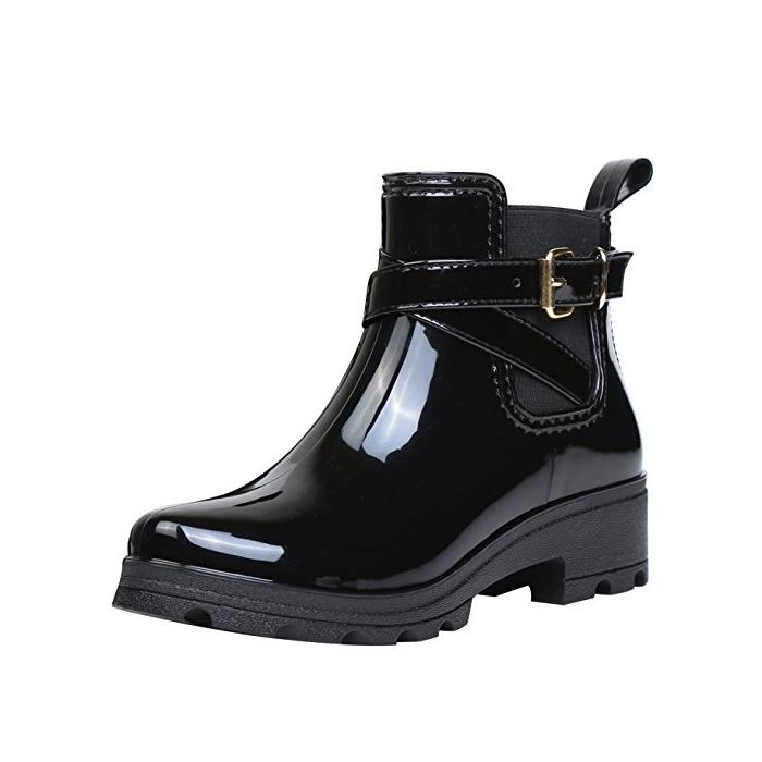 Botas de Agua Bota de Goma Mujer Impermeable lluvia Zapatos Tobillo Casual