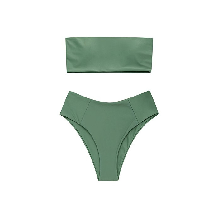 ZAFUL Conjunto De Bikini Bandeau con Relleno Dos Piezas Set Traje de