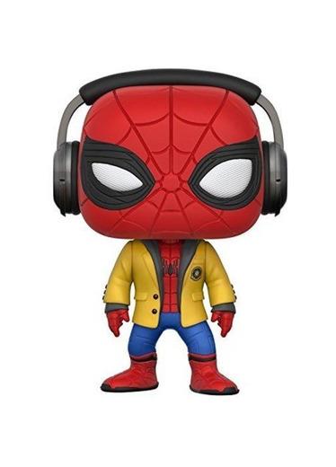 Marvel-21660 Figura de Vinilo Spider-Man with Headphones Funko 21660