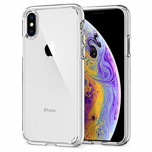 spigen Ultra Hybrid Funda iPhone XS/X con Tecnología de cojín de Aire