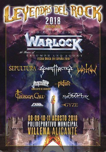 Página Oficial Leyendas del Rock Festival.
