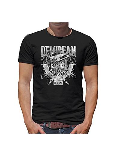 TLM Delorean Máquina Outatime Camiseta para hombre T-Shirt XXXL negro