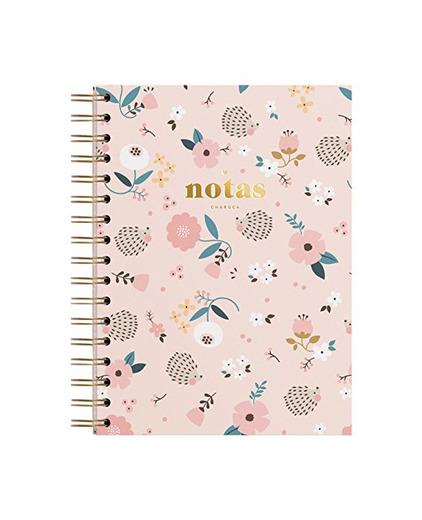 Charuca CU42 - Cuaderno con diseño Erizo flores