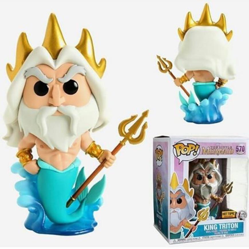 Figura Vinilo King Triton (Oversize) 570   Ariel La Sirenita ¡Funko ...