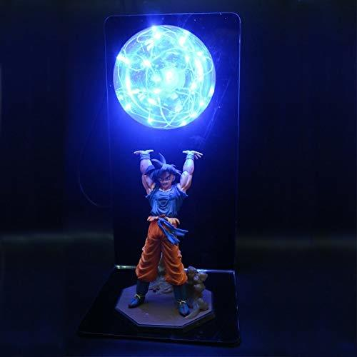 Dragon Ball Z Lámpara Goku Fuerza Bombas Creativas Lámpara De Mesa Iluminación