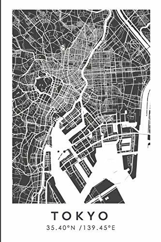 TOKYO 35.40ºN /139.45ºE: Cuaderno de viaje. Diario, bullet journal, bujo, Diseñado en