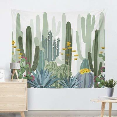 Cactus Tapestry, Urban Outfitters, Blanco y Negro, Acuarela Tapices de Pared Mandala