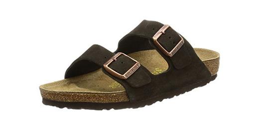 Birkenstock Arizona, Zapatos con Hebilla Unisex Adulto, Marrón