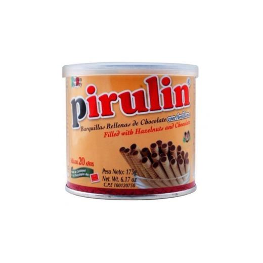 PIRULIN Barquillas Rellenas de Chocolate y Avellanas 300 gr