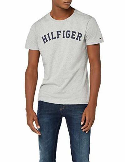 Tommy Hilfiger UM0UM00054, Camiseta Para Hombre, Gris