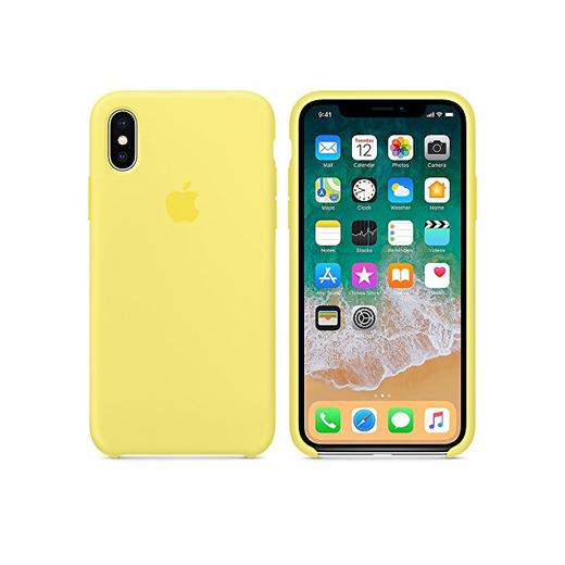 El último Verano Funda iPhone X, Slim Líquido de Silicona Gel Carcasa