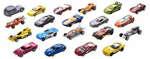 Hot Wheels Pack de 20 vehiculos, coches de juguete