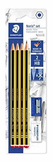 Staedtler Noris 120S1 BK4DST. Lápices de madera certificada. Blíster con 4 lapiceros