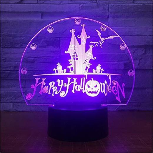 Jsnxzx Happy Halloween - Lámpara de escritorio con luces LED en 3D