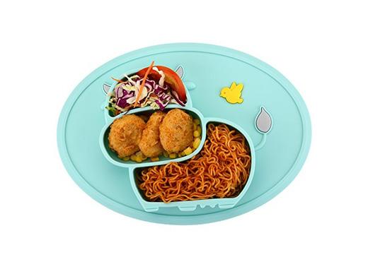 Qshare - Mini plato para bebés de silicona