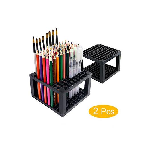 YOUSHARES Soporte para lápices de 96 ranuras - Soporte organizador de escritorio