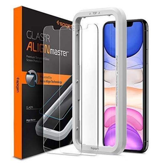 Spigen, 2 Pack, Protector Pantalla iPhone 11 Pro MAX/XS MAX
