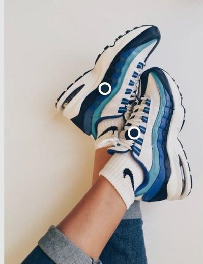 Nike Air Max 95 Blancas y Azul