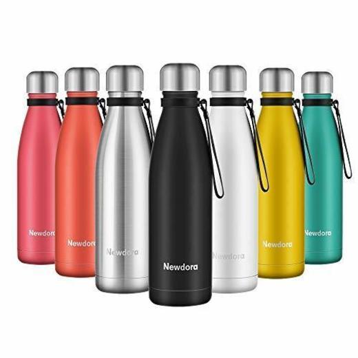 Newdora - Botella de Agua Acero Inoxidable 500ml